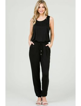 Tank Style Jumpsuit with Elastic Waistband