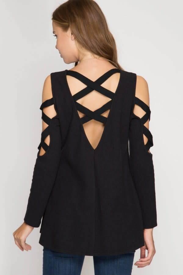 Strappy Back & Shoulder Top
