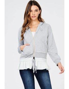 Zip Up Jacket with Rufflehem