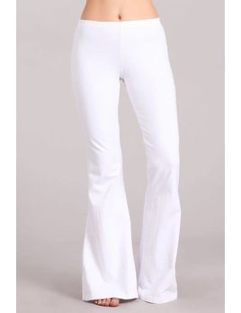 Bell Bottom Pants with Elastic Waist