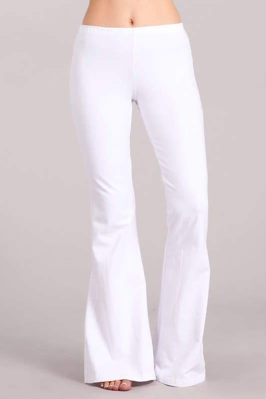 Bell Bottom Pants with Elastic Waist