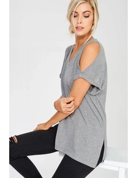 Cold Shoulder Tee Shirts