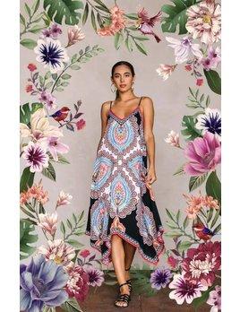 Print Handkerchief Dress