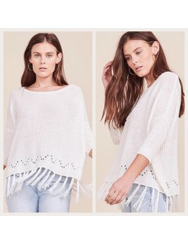 Lightweight Fringed Sweater