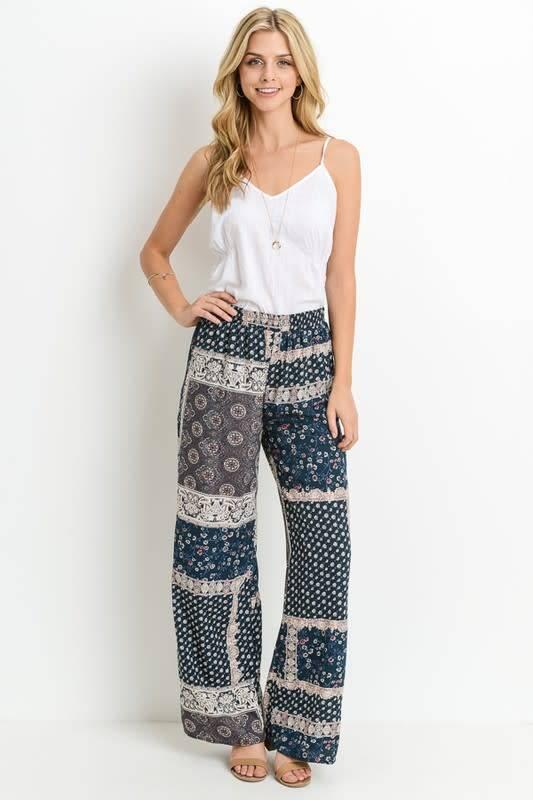 Bohemian Wide Leg Pants