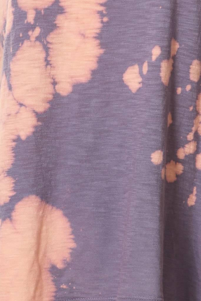 Tie Dye Tee Shirt with Round Neckline