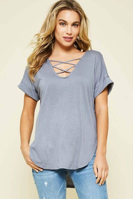 Strappy Dolman Tee