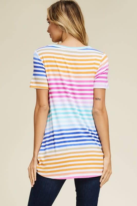 Stripe Hi-Lo Tee
