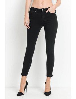 Mid Rise Scissor Cut Jeans