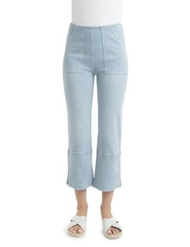 Seamed Cropped Flare Jeans