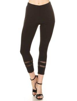 Stripe Mesh Detail Leggings