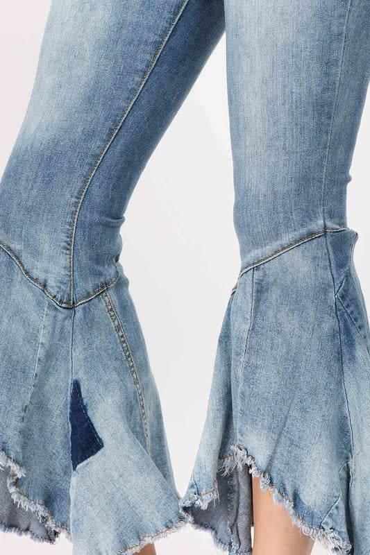 Flare Hem Jeans High Rise
