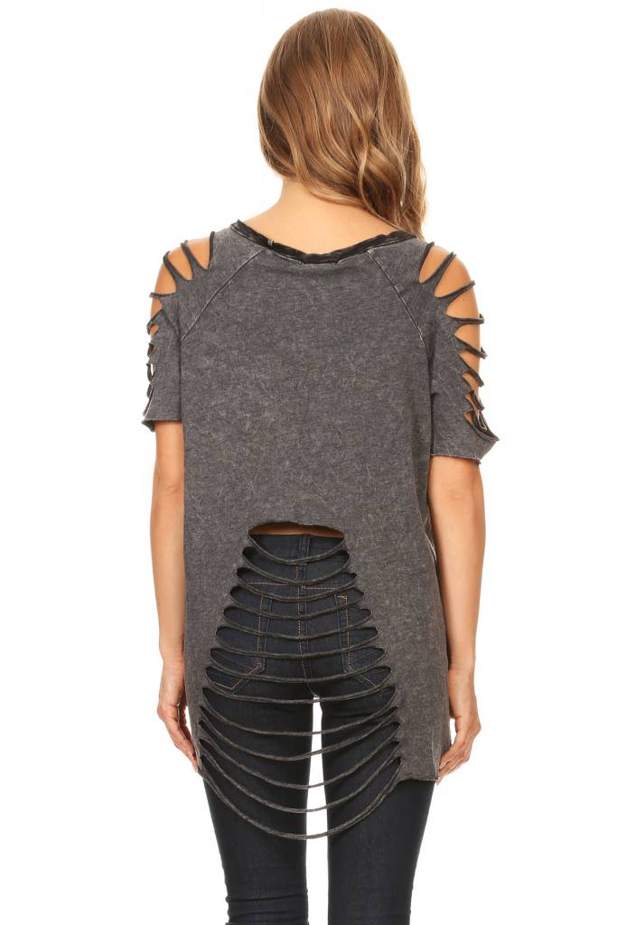 Waffle Contrast Asymmetrical Top
