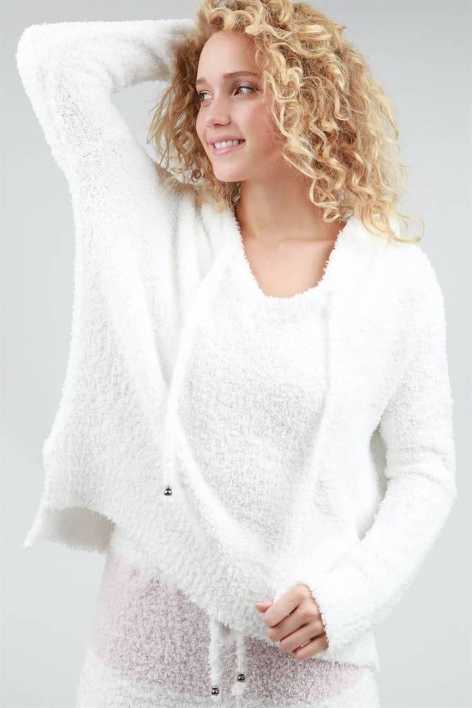 Fleece Drawstring Hoodie Pullover