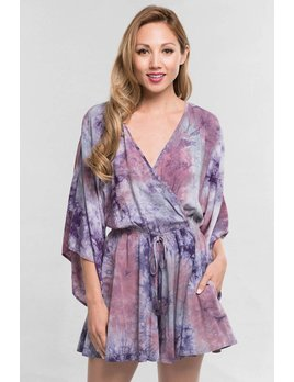 Tie Dye Romper with Pockets