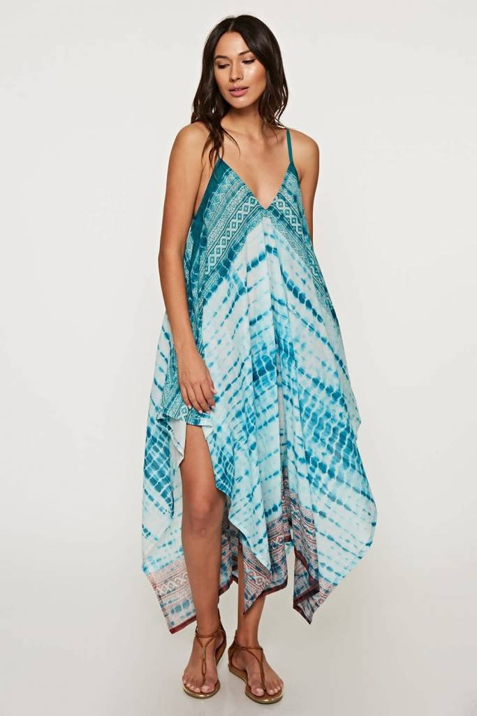 Tie Dye Scarf Dress