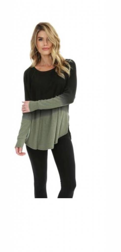 Ombre Ribbed Thermal with Slits