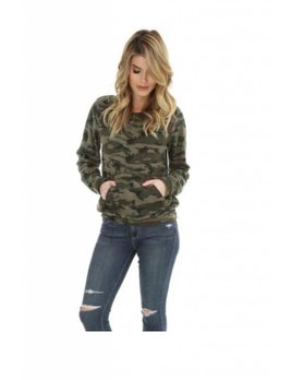 Camouflage Kangaroo Pocket Sweatshirt