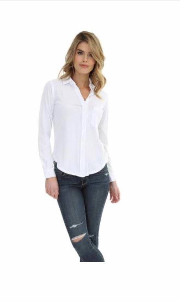 Button Up Roll Sleeve Top