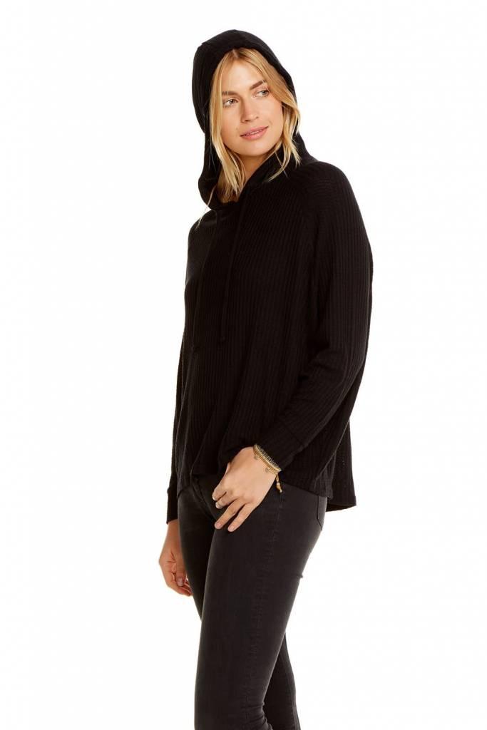 Thermal Long Sleeve Dolman Pullover Hoodie