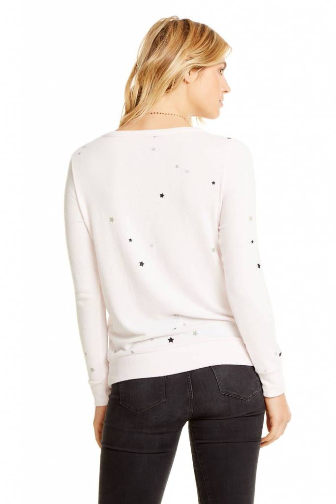 Glitter Star Love Knit Top