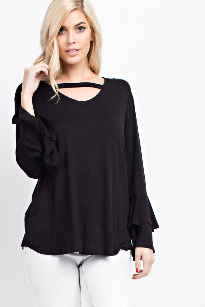 Double Flare Sleeve Top