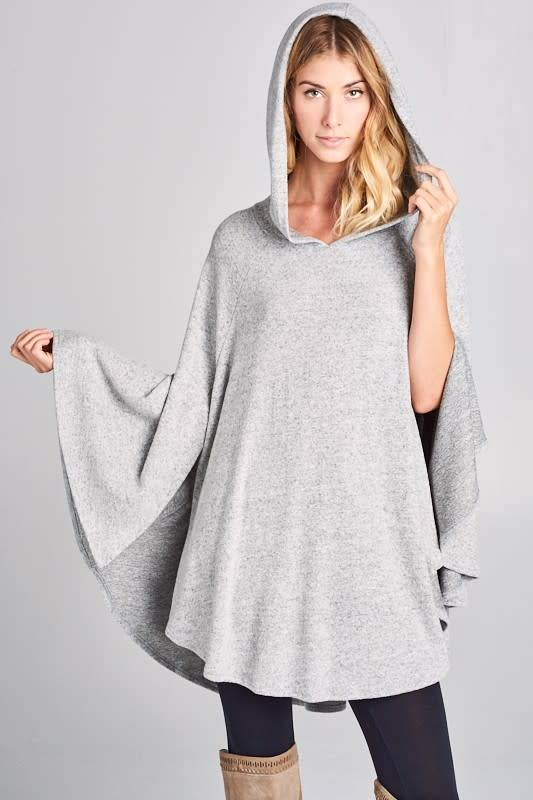 Hacci Poncho with Arm Slits and Hood