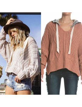 Round Neck Sweater with Hood