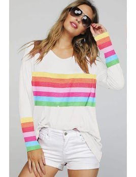 Rainbow Stripe Graphic Top