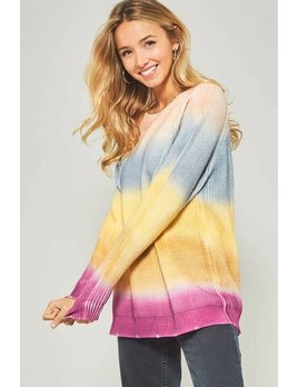 Ombre Rainbow Sweater