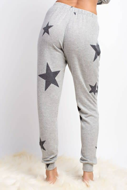 Brushed Knit Star Print Joggers