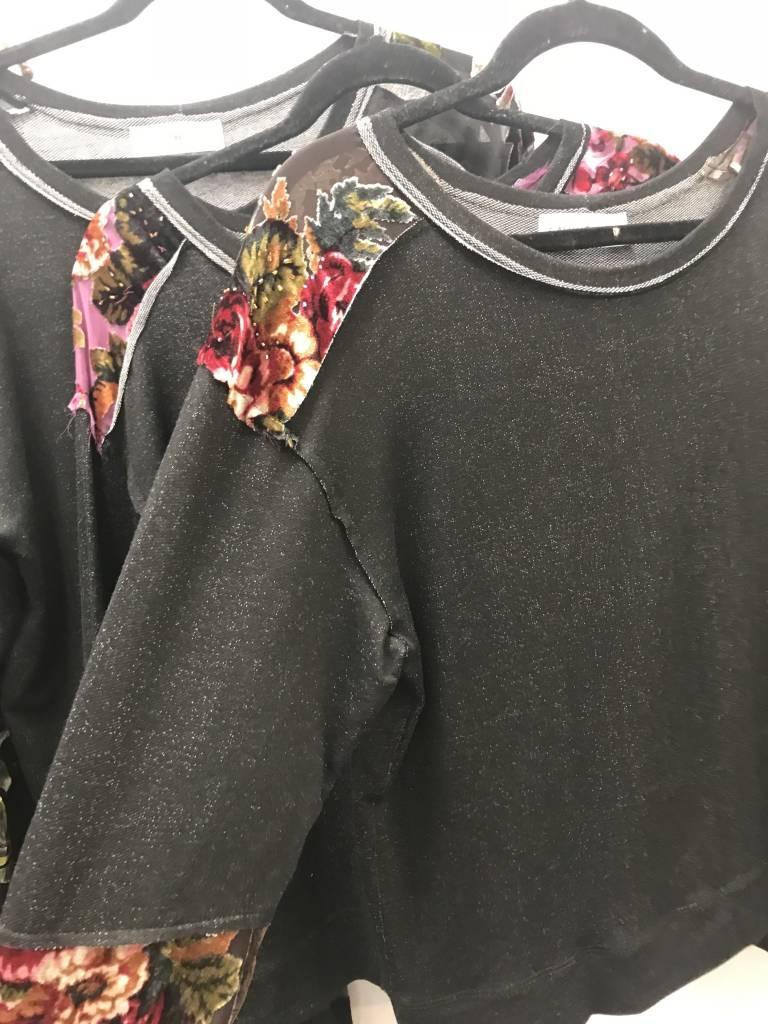 Vintage Fabric Inset Sweatshirt