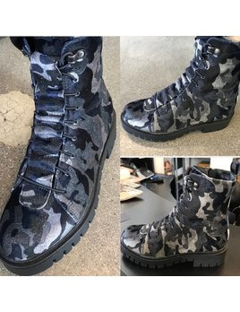 Camouflage Combat Boots