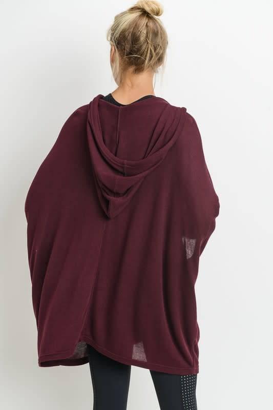 3/4 Sleeve Flowy Hoodie