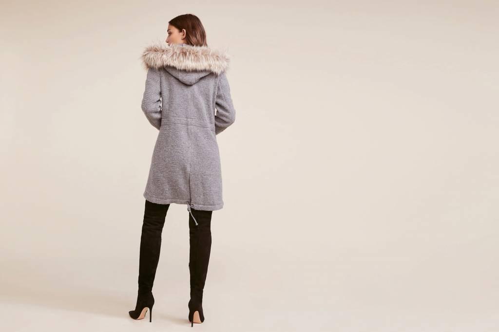 Faux Fur Ribbed Coat