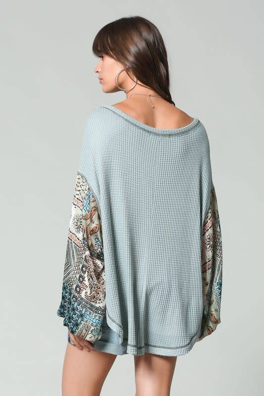 Thermal Top with Gypsy Balloon Sleeves