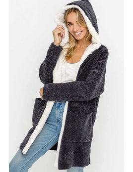 Soft Chenille Open Cardigan