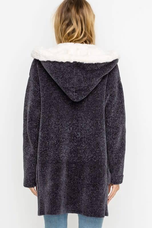 Soft Chenille Open Cardigan