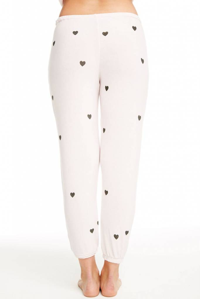 Cozy Knit Lounge Pants Tiny Hearts