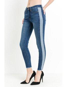 Reverse Side Seam Skinny High Rise Jeans