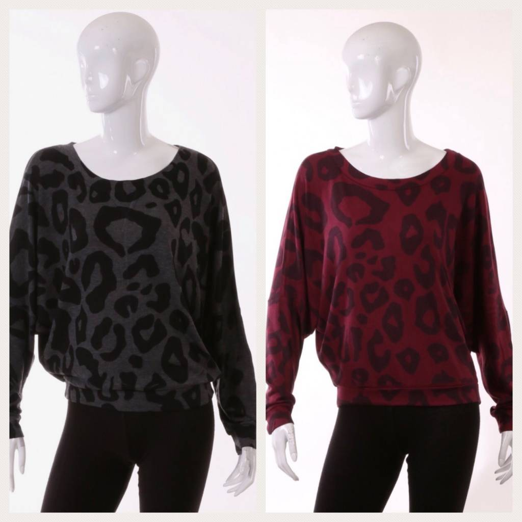 Animal Print Dolman Top