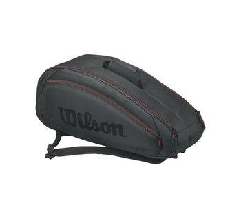 Wilson Fed Team 6 Pack Black/Red Tennis Bag