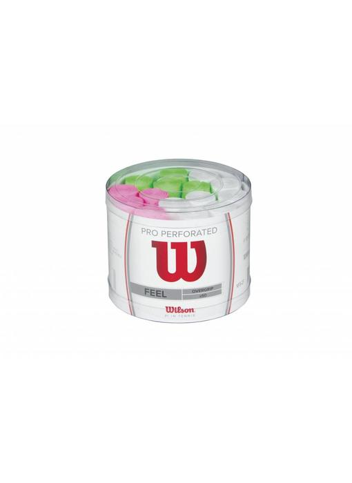 Wilson Pro Overgrip Perforated Bucket 60 Assorted