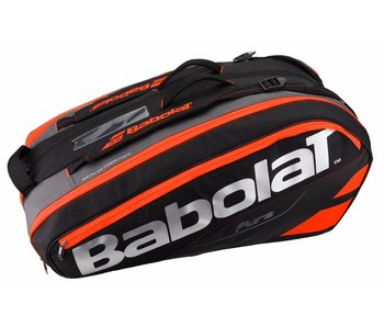 Babolat Racket Holder x12 Pure Black/Red