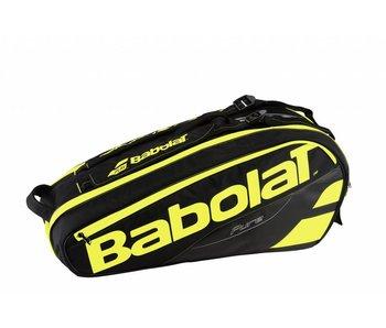 Babolat Racket Holder x6 Pure Black/Yellow Tennis Bag