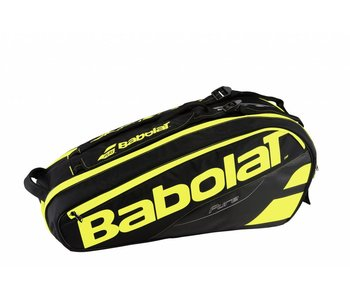 Babolat Racket Holder x6 Pure Black/Yellow