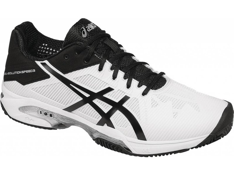 Asics Gel Solution Speed 3 Wh/Bk/Sil Men's Shoes