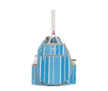 Ame & Lulu Kingsley Tennis Backpack Ticking Stripes