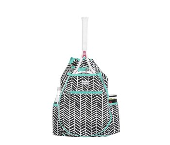 Ame & Lulu Kingsley Tennis Backpack Blk Shutters