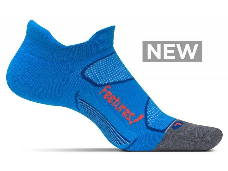 Feetures Elite Max Cushion No-Show Socks Bright Blue/Lava M